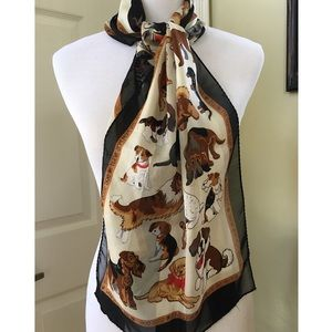 Accessories - DOG PRINT SCARF
